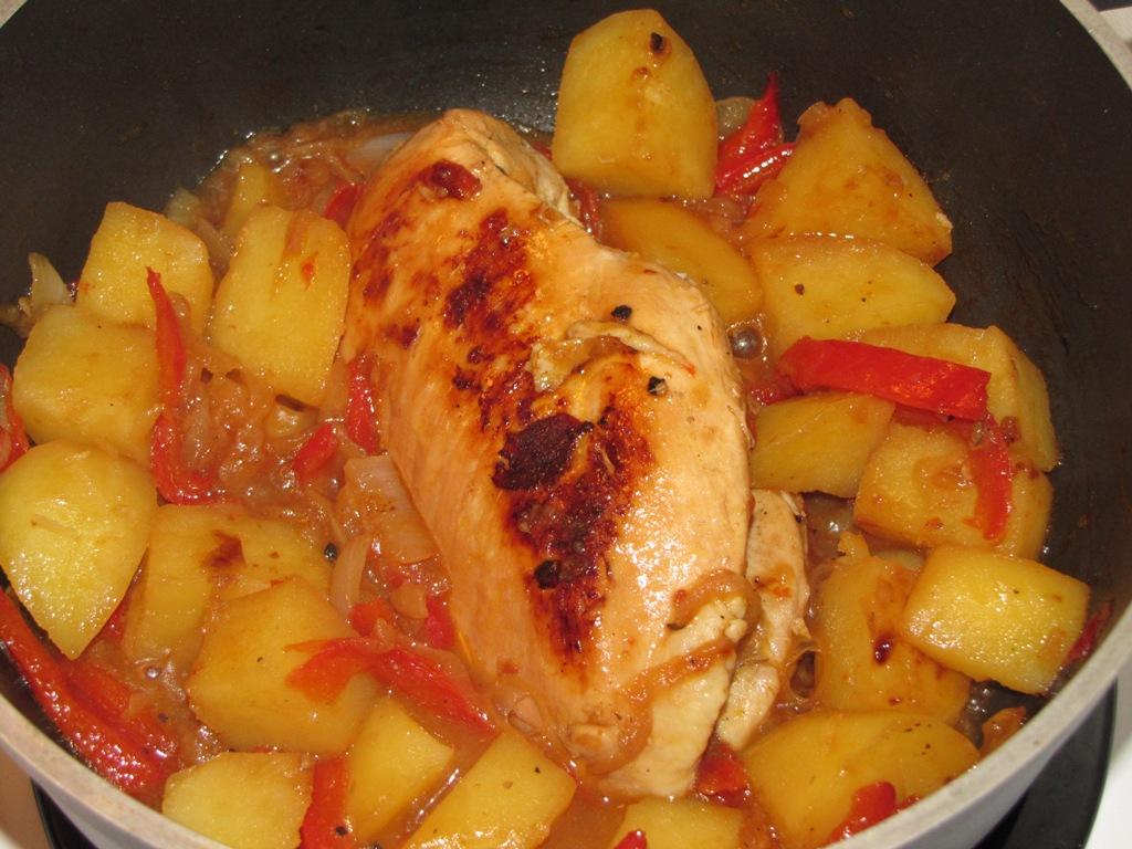 recetas de pollo con papas